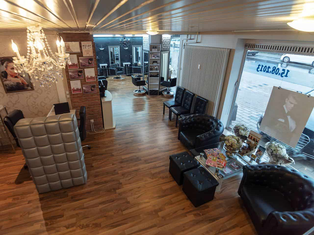 Haarstudio Barock Salon Eingangs- und Wartebereich
